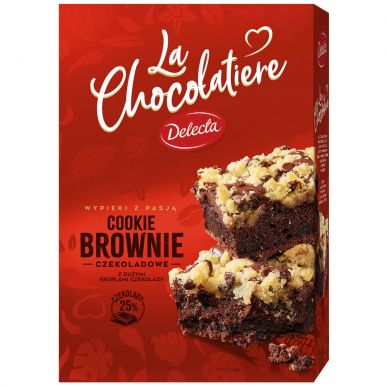 Cookie Brownie z kroplami czek 508g 6szt